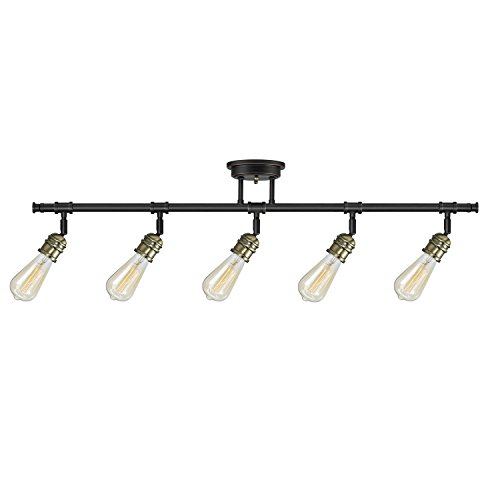 Globe Electric Rennes 5 Track Lighting, Oil Rubbed