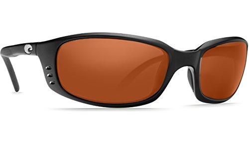 Costa Del Mar Brine C-Mate 1.50 Sunglasses, Matte Black, Copper 580P ()