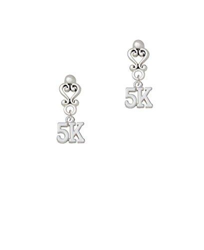 5K - Filigree Heart Earrings