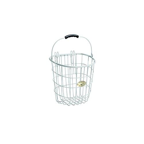 Nantucket Bike Basket Co Surfside Rear Wire Pannier Bag with Hooks, White