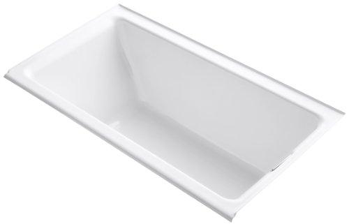(KOHLER K-855-R-0 Tea-for-Two 5.5-Foot Bath, White)