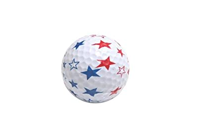 4th of July Patriotic USA Stars Golf Balls Pack of 6
