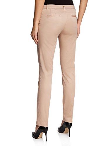 oodji Ultra Mujer Pantalones Básicos de Verano Beige (3300N)