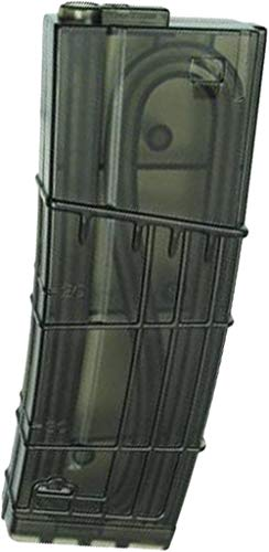 (Evike King Arms L5 Style Translucent 130rd Mid-Cap Magazine for M4 / M16 Series Airsoft AEG (Package: Single Magazine))
