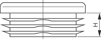 GedoTec PE Topes tubo Tapas para pie negro de pl/ástico para Tubo cuadrado Cosas de tubo rectangular cuadrado Tapones de l/ámina 80 x 80 mm Calidad de marca para su Sala de estar 4 St/ück