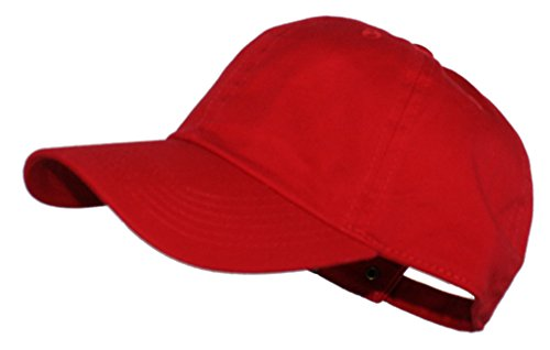 Ted and Jack - Oceanside Solid Color Adjustable Baseball Cap in Red