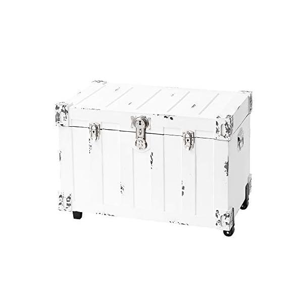 DormCo Bolt Trunks - Rustic White (Extra Roomy Footlocker)