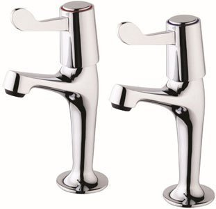 Lever High Neck Sink Pillar Taps WRAs Approved by Valle Design