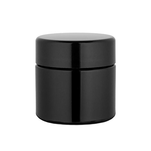 Miron Glass Quarter Sealed Smell Proof Refillable UV Glass Herb Jar, 100 ()