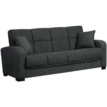 Handy Living Damen Convert-a-Couch in Gray Microfiber