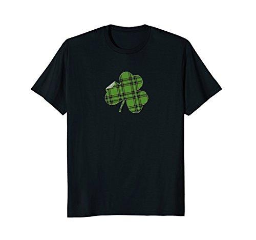 Irish T-shirt - Green flannel shamrock looks custom made (Irish Flannel Green)