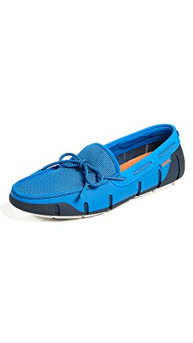 SWIMS Stride Lace Loafer in Blitz Blue/Navy/White Fleck, Size 9 by SWIMS