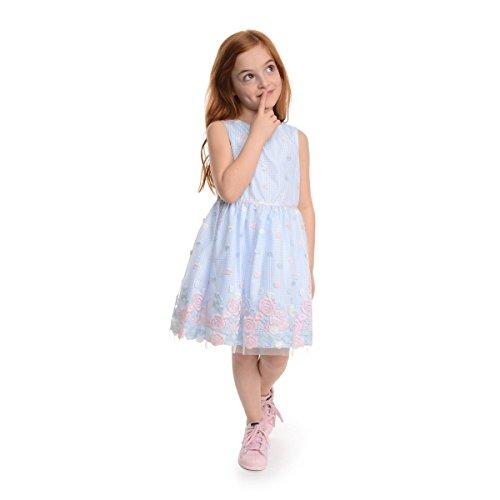 PIPPA & JULIE Elisa Pink and Blue Embroidered Dress