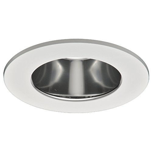 Halo TL410SC LED Trim, Frost Dome Polymer Lens, Specular Clear Reflector, Matte White Ring, Shower Rated, 4