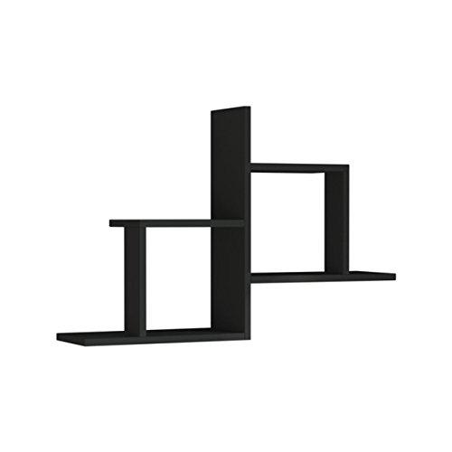 """Ada Home Décor DCRW2157 Webb Wall Shelf, 34"""" x 23"""" x 8"""", Anthracite"""