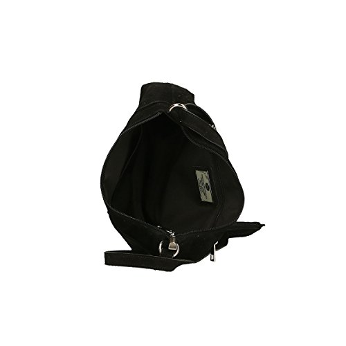 Chicca Borse Piel genuina bolso 29x17x8 Cm negro