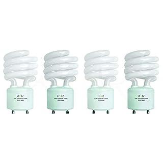 (Pack of 4) 23 Watt Mini Spiral - GU24 Base - (100W Equivalent) - T2 Mini-Twist - CFL Light Bulb - 4100K Cool White