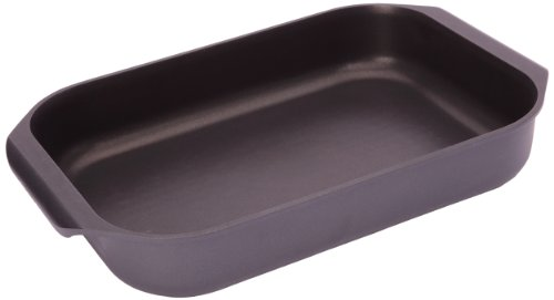 stove top INDUCTION ROASTER rectangular roasting pan NON STICK ()