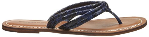 Bernardo Womens Miami Flat Sandal Blue Snake