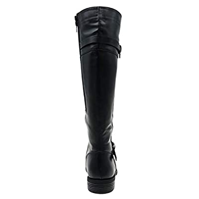 MVE Shoes Womens Pierre Dumas Stylish Comfortable Knee High Low Heel Buckled Boot | Knee-High