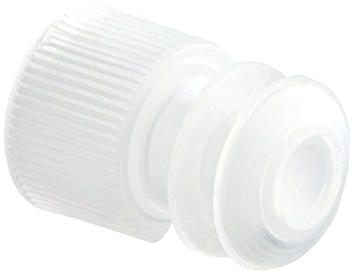Globe Scientific 118127C Polyethylene Flange Plug Cap for Test Tubes, 12mm Size, Clear (Pack of 1000)