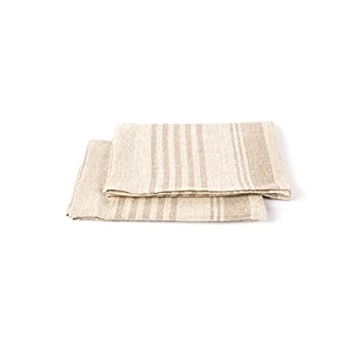 "LinenMe Linen Linum Hand and Guest Towels, 19 by 28-Inch, Natural, Set of 2 - 100 % Linen Color: NATURAL Size:19"" x 28"" - bathroom-linens, bathroom, bath-towels - 31ILLTDI3oL. SS400  -"
