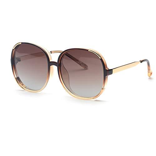 FAGUMA Oversized Round Polarized Sunglasses For Women Brand Designer Shades (Oversized Sunglasses)
