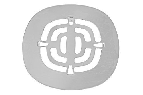 Metal Drain Covers - Westbrass Brass Snap-In Shower Strainer Grid, Powder Coat White, D316-50
