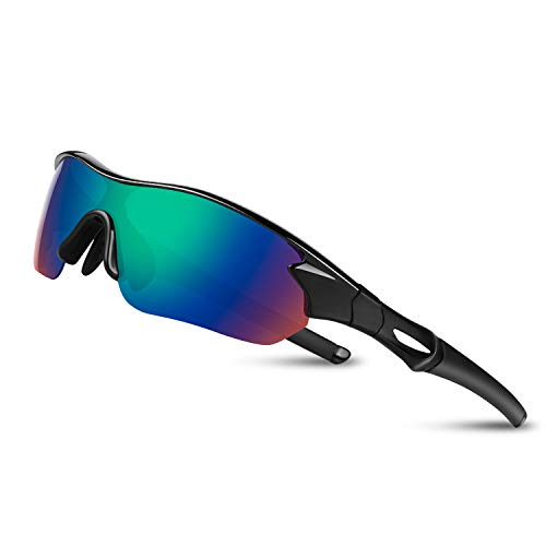 Polarized Sports Sunglasses for Men Women Youth Baseball Fishing Cycling Running Safety Tac Glasses