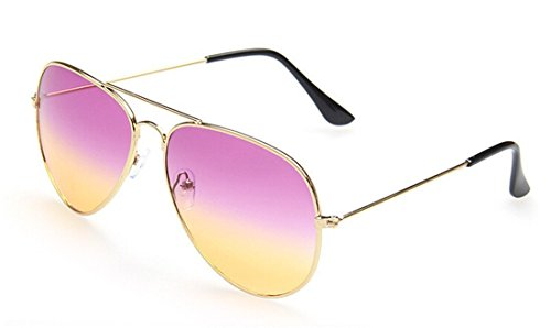 GAMT Summer Beach Gold Frame Aviator Sunglasses - Framed Circular Glasses