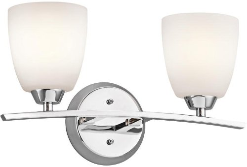 Kichler 45359CH Granby Bath 2-Light, Chrome