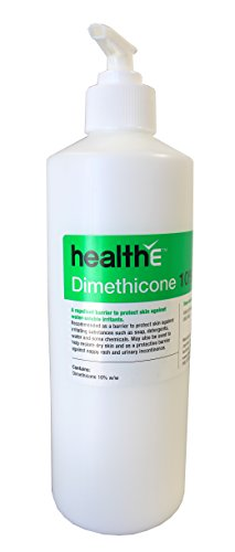 (healthE - Dimethicone 10% Cream - Active Skin Protectant Barrier Against Irritating Substances (500ml Pump Bottle))