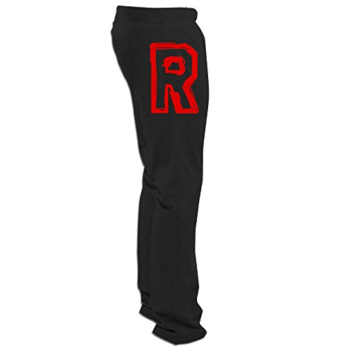 MEGGE Men's Team Rocket R Adult Comfortable Fleece Sweatpants Black M (Jessie From Team Rocket)