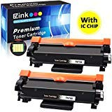 E-Z Ink (TM) With Chip Compatible Toner Cartridge Replacement For Brother TN760 TN 760 TN730 To Use With HL-L2350DW HL-L2395DW HL-L2390DW HL-L2370DW MFC-L2750DW MFC-L2710DW DCP-L2550DW(Black, 2Pack)