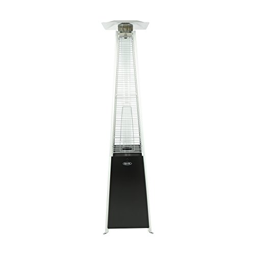 Dyna-Glo DGPH301BL 42000 BTU Black Pyramid Flame Patio Heater (Gas Bottle For Patio Heater)