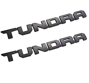 EmbRoom Tundra Emblems 14 inch 3D Stickers Nameplate Badges Door Replacement TUNDRA Decals for 2013-2018 SR5 1974 TRD PRO Matte Black