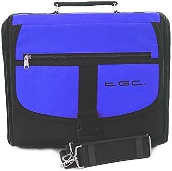 Azul y negro mochila para consola Case In de coche para Sony Playstation 2 PS2: Amazon.es: Electrónica