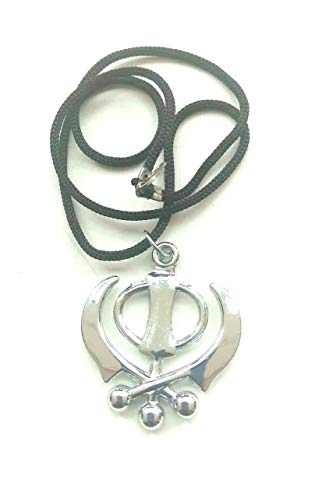 Stainless Steel Punjabi Sikh Khanda Pendant Neckless CAR Hanging Wall Door Hanging Bracelet for Prosperity Good Luck Perfect Housewarming Gift,Success Power Growth Remove Obstacles.