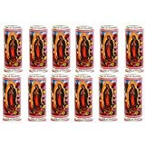 Veladores Misticas Our Lady of Guadalupe Prayer Candles Pack of 12