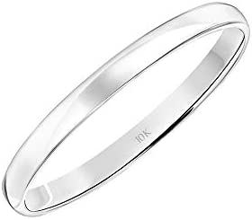Women's 10K Rose, White or Yellow Gold 2MM Classic Plain Simple Wedding Band via Brilliant Expressions