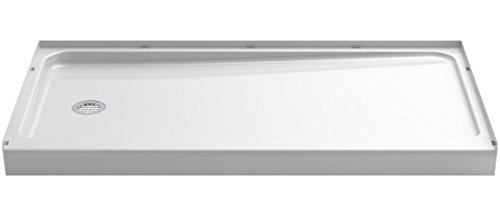 - STERLING 72181110-0 Series 7128 Ensemble Shower Base with Left-Hand Drain, 60 x 32-Inch, White