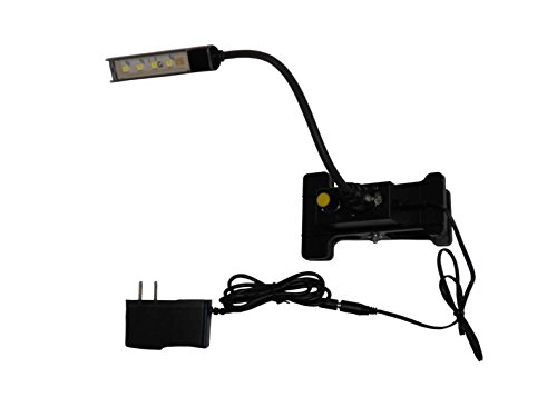 Clear Light LED Gooseneck Music Stand, Lectern, Inspection, Reading Clip On Light - Table Lectern Light