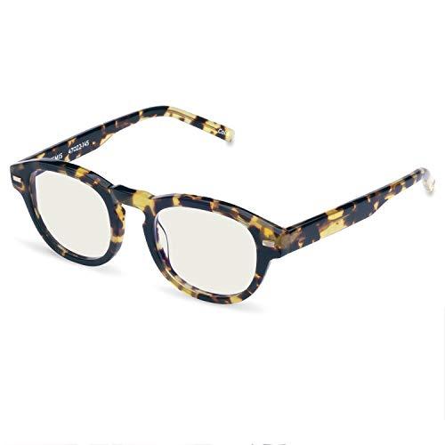 Boca Blu Blue Light Block Reading Glasses - Artermis Anti-Eyestrain Computer Glasses, Gaming Unisex Eyewear - Acetate Frames, CR-39 Lenses - Magnification Strength +2.00 - Yellow Tort by Boca Blu