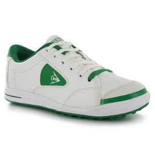Dunlop Street Mens Golf Shoes White/Green 9 UK UK: Amazon