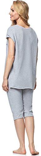Italian Fashion IF Pijama para mujer Lexi 0231 Melange/Rosa