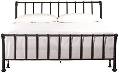 Hillsdale Furniture 1671BKR Janis Metal Sleigh Bed Set