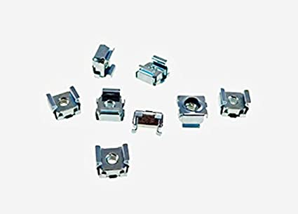 3//8 Panel Hole Size BFC7931-632 8 Pack #6-32 Self-Retaining Cage Nuts