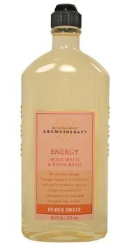 Bath & Body Works Aromatherapy Orange Ginger Energizing Body Wash and Foam Bath 10 oz