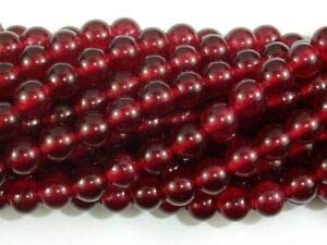 (Jade Beads-Ruby, 8mm Round Beads (211054159) Crafting Key Chain Bracelet Necklace Jewelry Accessories Pendants)