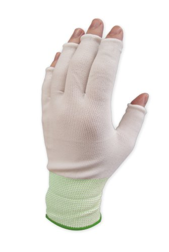 Purus GLHF-S Nylon Half Finger Knit Glove Liner Cuff, 1.7 Mils Thick, Small (Pack of 300 Pairs) by Purus